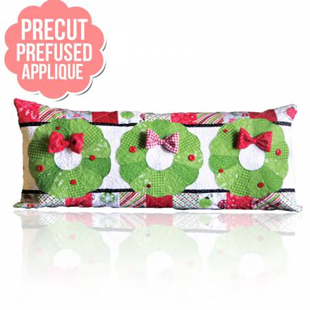 Deck the Halls Bench Pillows - December with pattern