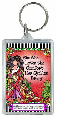 Quilt Comfort Keychain