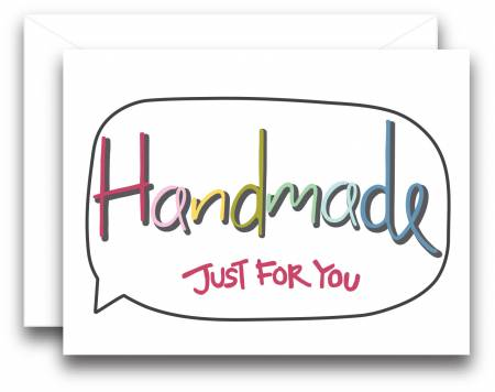 Handmade Just For You Gift Note Card by Kati Cupcake - 3 ct