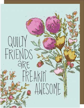 Quilty Friends - Gift Note Card - by Kati Cupcake
