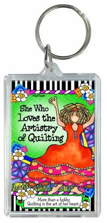Quilt Artistry Keychain