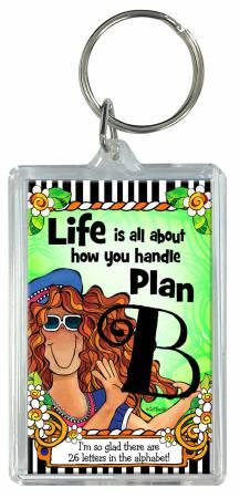 Plan B Keychain