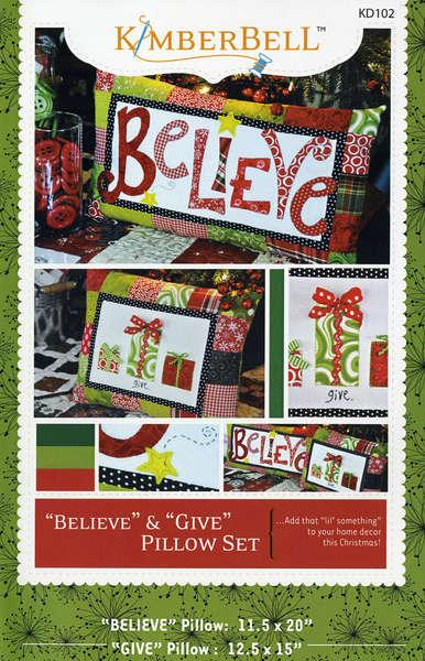 Believe & Give Pillow Set