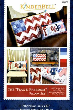 Flag & Freedom Pillow Set 33.5 x 21