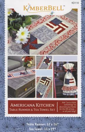 Americana Kitchen Table Runner & Tea Towel Set