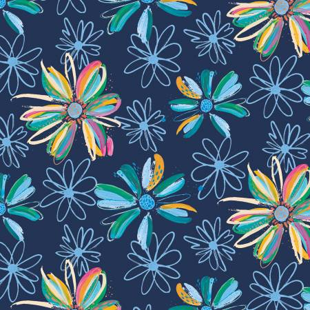 Etta Vee - Knit Flowers Navy