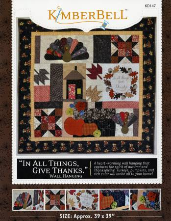 Kimberbell In All Things Give Thanks Wall Hanging Pattern