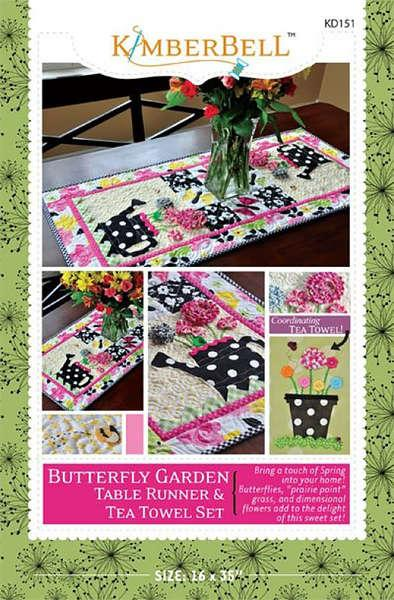 Butterfly Garden Table Runner & Tea Towel Set