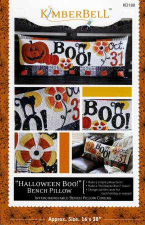 Halloween Boo Bench Pillow