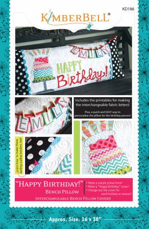 Happy Birthday Bench Pillow Pattern