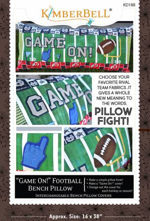 Game On Football Bench Pillow- Sewing Version