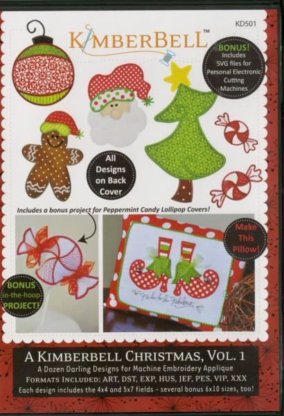 CD A Kimberbell Christmas Volume 1  Machine Embroidery