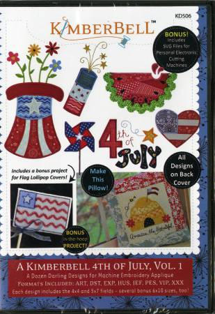CD A Kimberbell 4th of July Volume 1 Machine Embroidery