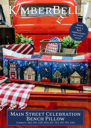 Main Street Celebration Bench Pillow Pattern - ME