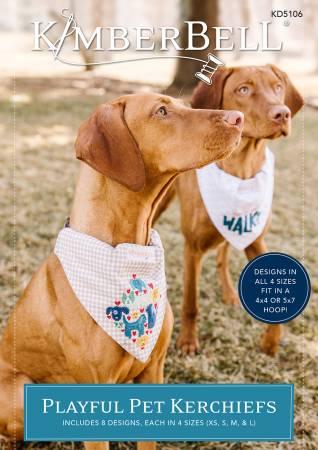 Playful Pet Kerchiefs Machine Embroidery Design CD