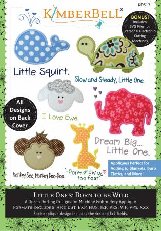 SOFT- Little Ones: Born to be Wild (Machine Embroidery CD)