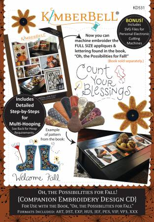 Oh, the Possibilities for Fall! (Machine Embroidery CD)