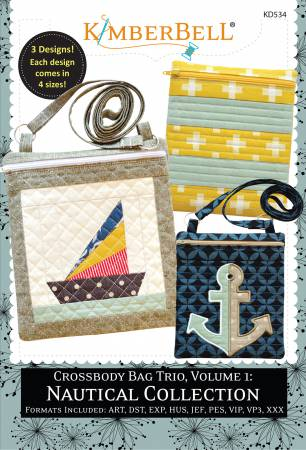 CD Crossbody Bag Trio, Volume 1: Nautical Collection