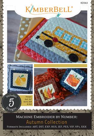 Machine Embroider by Number Autumn Collection CD