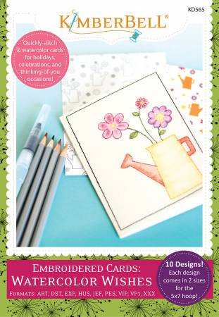 Embroidered Cards Watercolor Wishes Embroidery CD - 818514020823 - KD565