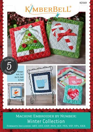 Machine Embroider by Number Winter Collection CD
