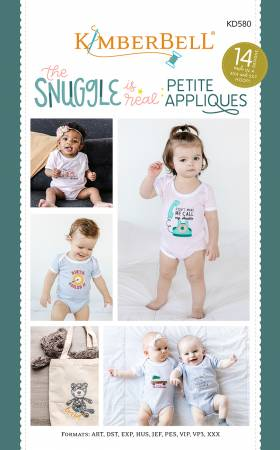 Kimberbell -- The Snuggle is Real: Petite Applique CD -- KD580
