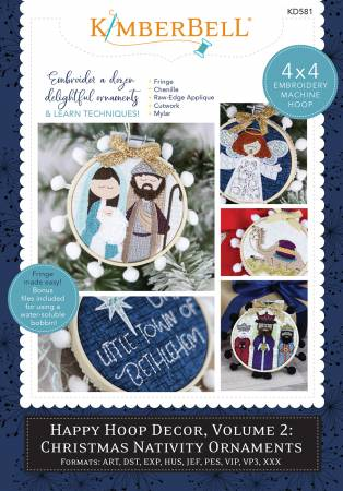Happy Hoop Decor Volume 2 Christmas Nativity Ornaments - KD581