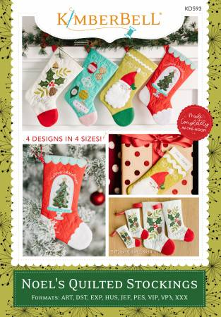 Noel's Quilted Stockings Embroidery Pattern by Kimberbell