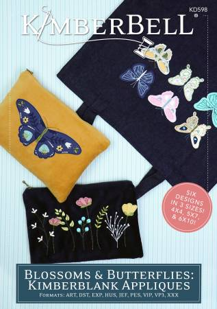 Kimberbell Blossoms & Butterflies Kimberblank Appliques Emb CD