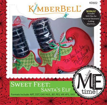 CD Sweet Feet: Santa's Elf Machine Embroidery