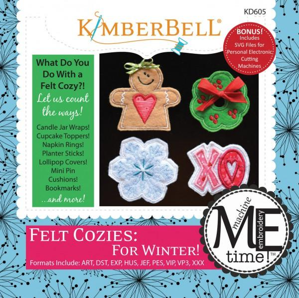 Felt Cozies: For Winter! Machine Embroidery - KD605