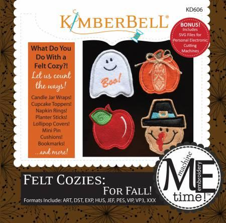 CD Felt Cozies: For Fall!  Machine Embroidery