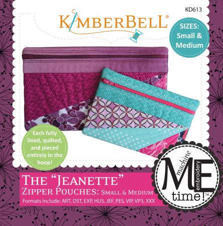 KIMBERBELL JEANETTE ZIPPER POUCH, SMALL & MEDIUM