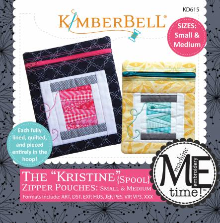 Kristine Zip Pouch SM Med Machine Embroidery CD
