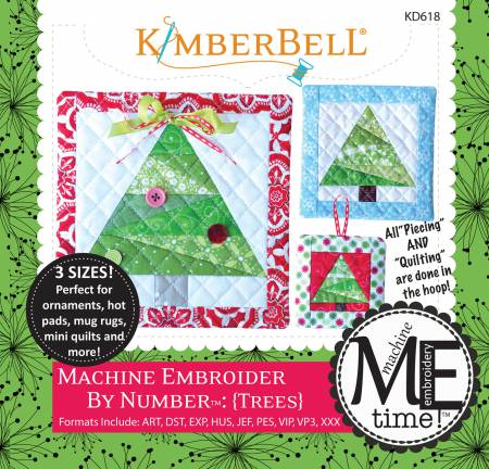 Embroider by Number: Tree (Machine Embroidery CD) - KD618