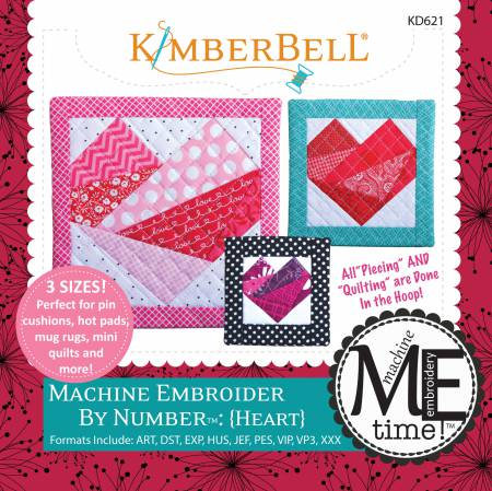 Machine Embroider by Number: Heart - KD621