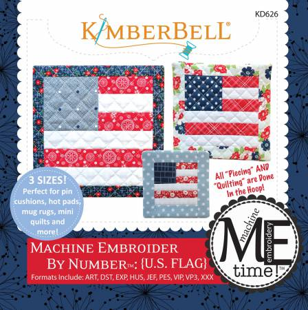 CD U.S. Flag Machine Embroider
