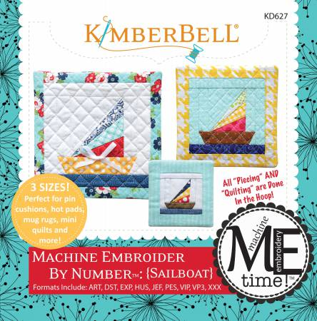 CD Machine Embroider by Number: Sailboat