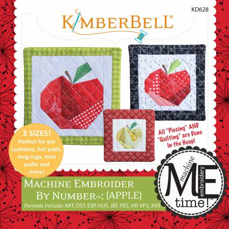 Machine Embroider by Number: Apple - KD628