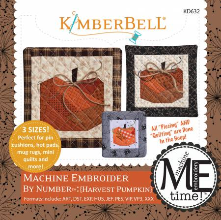 CD Machine Embroider by Number: Harvest Pumpkin