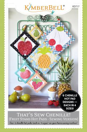 Thats Sew Chenille Fruit Stand Hot Pads Sewing Version