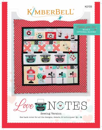 KB Deposit - Love Notes Sewing Instructions