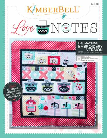 KB Deposit - Love Notes for Machine Embroidery CD