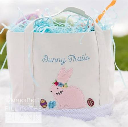 Fill in the Blank- March Bunny Busket Tote Design Pack