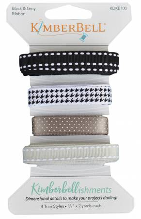 Black & Grey Ribbon Set Kimberbell