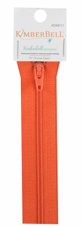 Kimberbellishments 16-Inch Orange Zipper