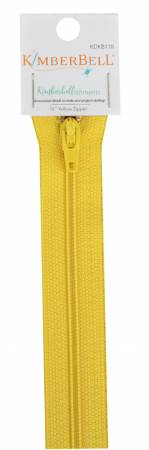 Kimberbellishments 16-Inch Yellow Zipper