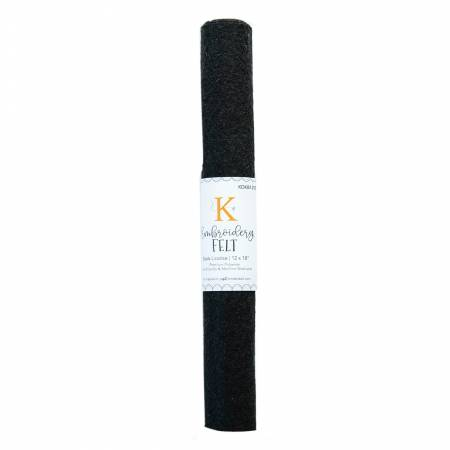 Embroidery Felt - Black Licorice