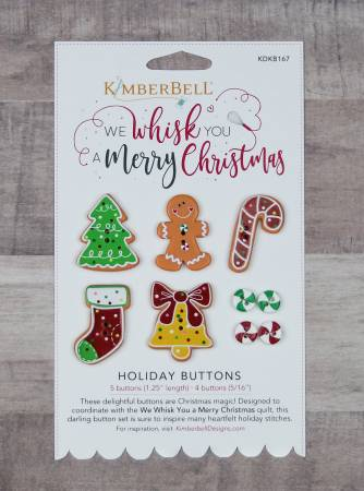 We Whisk You A Merry Christmas Holiday Buttons