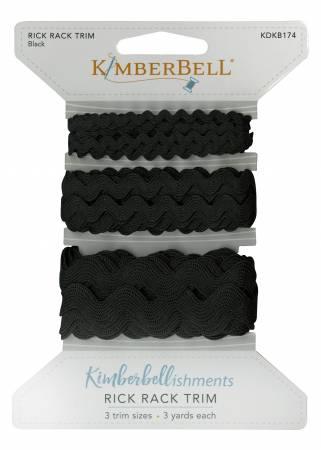 Kimberbellishments Rick Rack Black